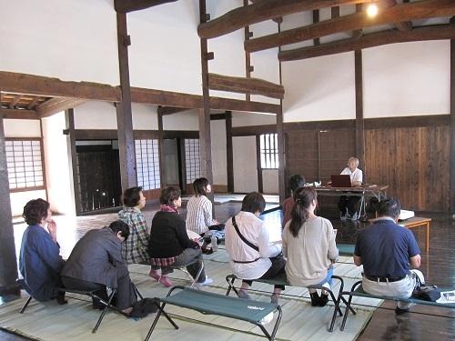 """学习萩、明治维新的""""萩的专业叙述人历史讲座"""""""