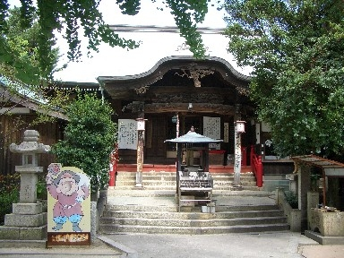 Myouken shrine eagle head temple