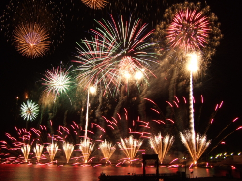 Port of Iwakuni All and festival Fireworks display
