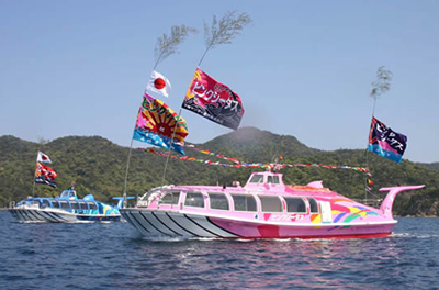 Omijima Sightseeing Boat Oumi-jima Island one round Sea Route