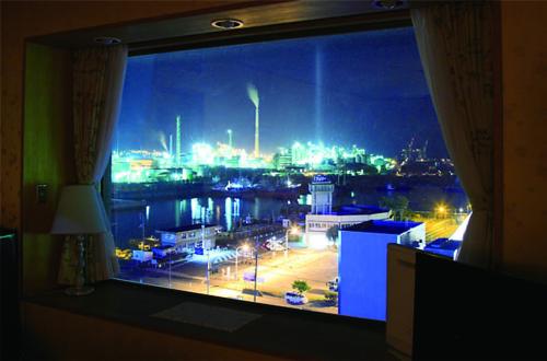 工廠群夜景高級住房類型