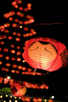 2. เทศกาลยามากุจิเทศกาลทานาบะตะโคมไฟ