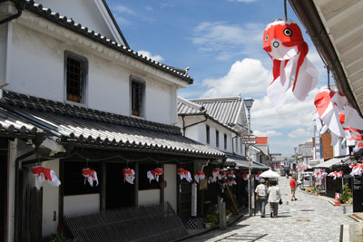 1. White wall townscape (Yanai City old town Kanaya district traditional buidling preservation area)