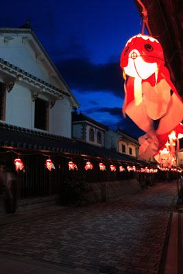 2. White wall townscape (Yanai City old town Kanaya district traditional buidling preservation area)